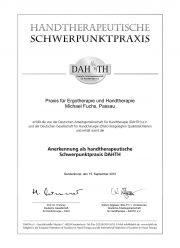 Ergofuchs Handtherapie Praxis Passau - Handtherapeut Zertifikat